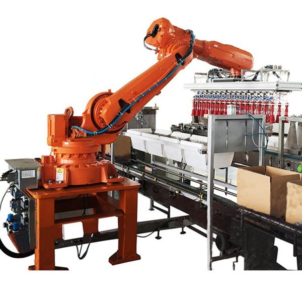 Full Automatic Multi Lines Robotic Stacking Machine for Beverage Production Line